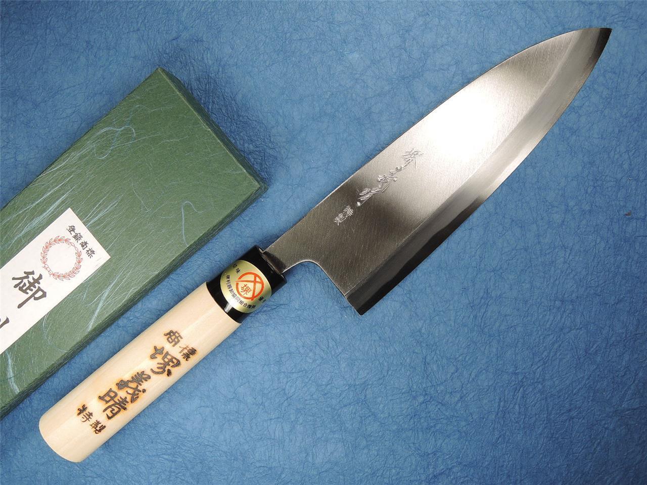 Japonais SAKAI Carbon Steel Deba Knife 180 mm