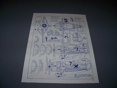 VINTAGE.1934 GEE BEE MODEL R-2 & R-1 SPORSTERS & HALL BULLDOG ..3-VIEWS.. (343C)
