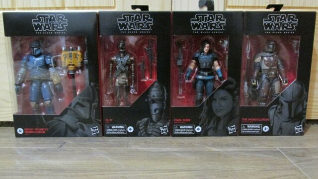 STAR WARS Black Series Mandalorian, Cara Dune, IG-11, Heavy set lot COMPLETE