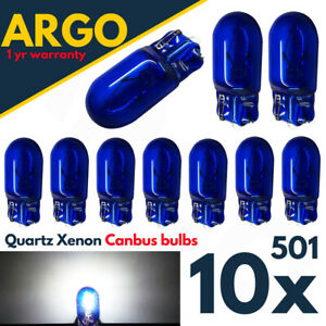 10-X-T10-501-W5W-XENON-POWER-SIDE-LIGHT-BULBS-ERROR-FREE-CANBUS-WEDGE-CAR-12V