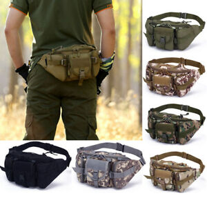 Tactical Waist Pack Pouch Camping Hiking Military Outdoor Bag Belt Utility Bags