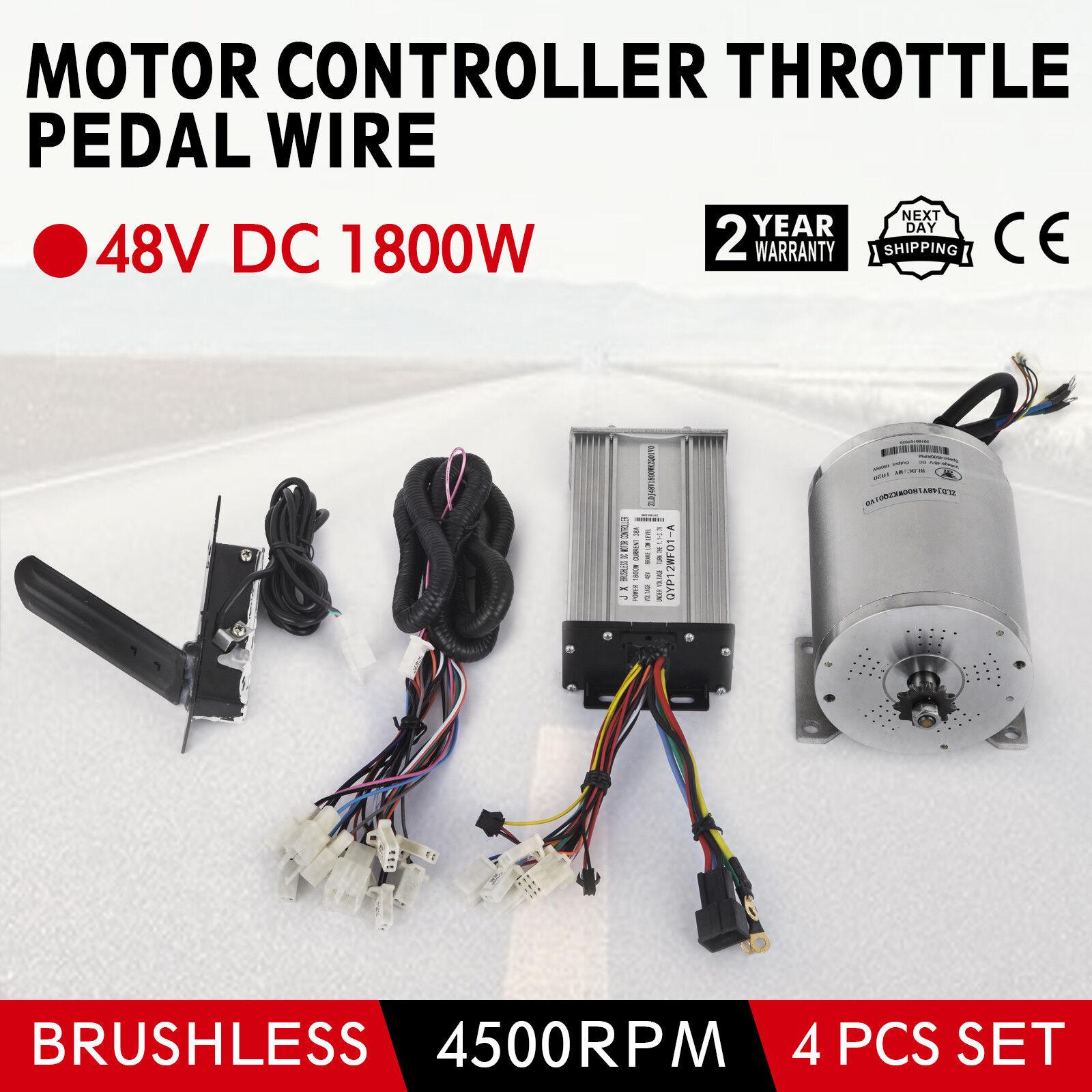 48V 1800W Brushless Motor Controller Throssotle Wire FAI DA TE EBike Bicicletta EATV