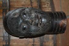 Large 20th century African Benin tribal bronze bust cast in lost wax method 1930