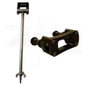 "2/"" Steering Stem    Chromoly Black   7//8 Bar Clamp  BB LTZ 400 KFX 400 DVX 400"