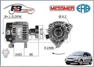 ALTERNATORE-FORD-FOCUS-99-gt-1-8-Turbo-DI-TDDi-TDCi-1753cc-66-74-85KW-210013A