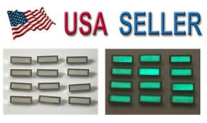 Watch-Dial-Hour-Silver-Lume-Markers-12-pieces-Indices-Indexes-Numerals-parts-new