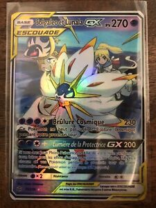 carte pokemon lunala gx READ description Cards Pokemon solgaleo et lunala GX Francaise