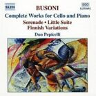 Busoni: Complete Works for Cello and Piano (CD, May-2004, Naxos (Distributor))
