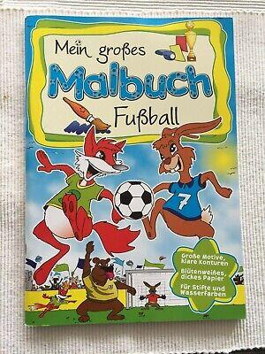 (el) - Mein Großes Malbuch - Fußball - Sehr Guter Zustand!