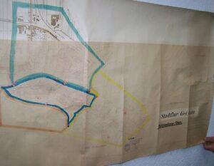 Grand-Carte-Stadtflur-Geithain-1-3000-De-1936-Carte-Geographique-130-X-65-CM