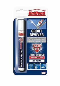 Grout Reviver Pen Unibond Antibacterial Easy To Use