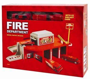 notfall kinder garage auto spiel spielset feuerwehr 5060358438448 ebay. Black Bedroom Furniture Sets. Home Design Ideas
