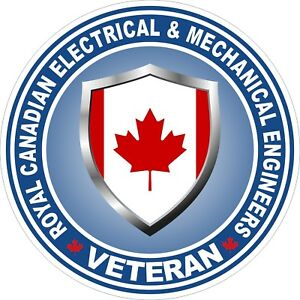 Royal-Canadian-Electrical-amp-Mech-Engineers-RCEME-Veteran-Vet-Decal-Sticker