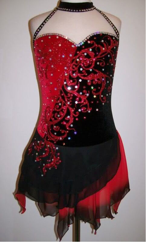 Ice Figure Skating Dress Majorettes Baton Twirling Costume Tap Dance outfit