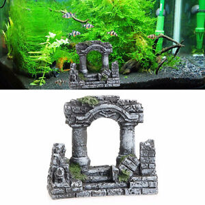 Decorazione-acquario-ANTICHE-ROVINE-ROMANE-colonne-rovina-resina-ornamento