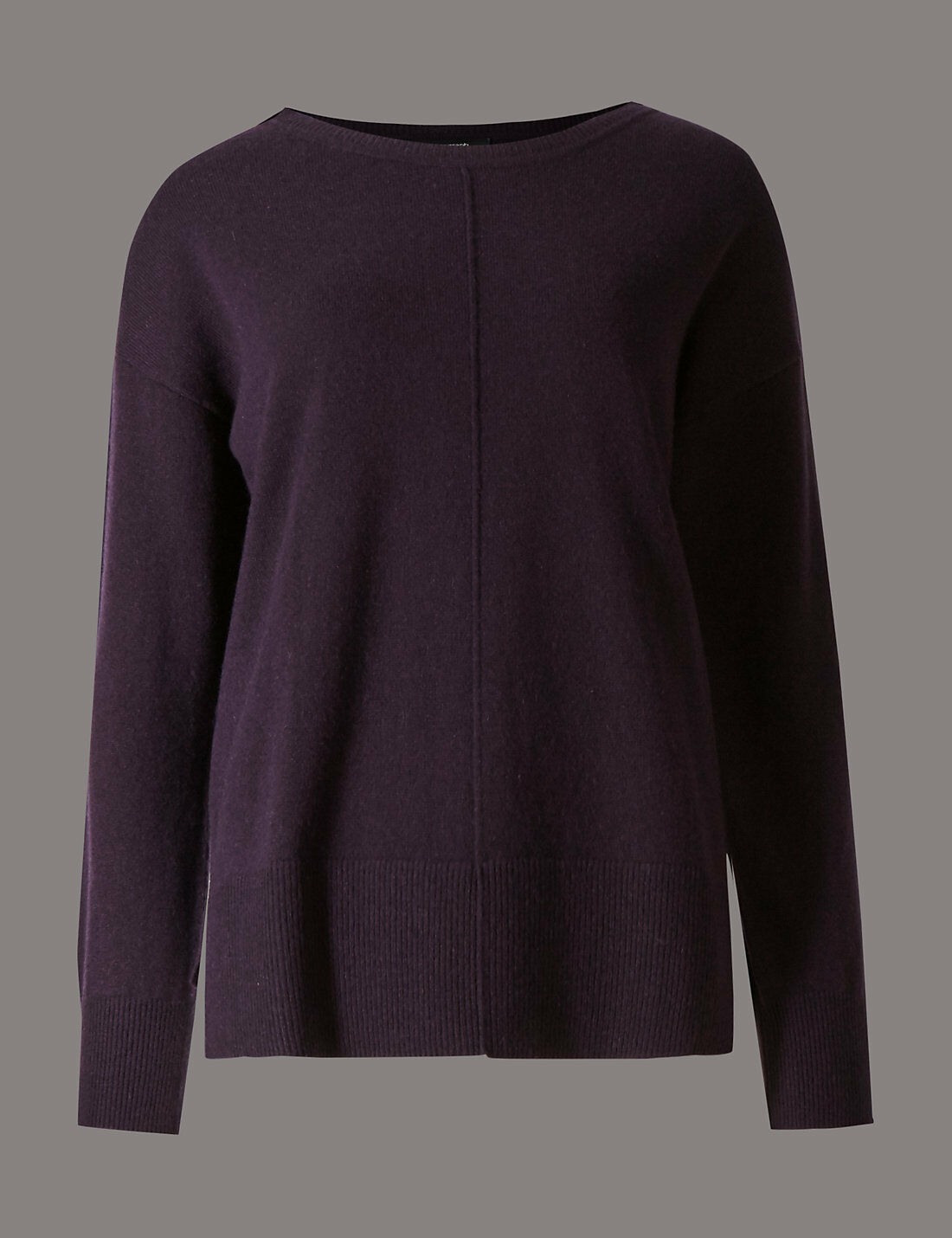Pure cashmere Quetsch m&s Größe 10 Couture Pull Bnwt