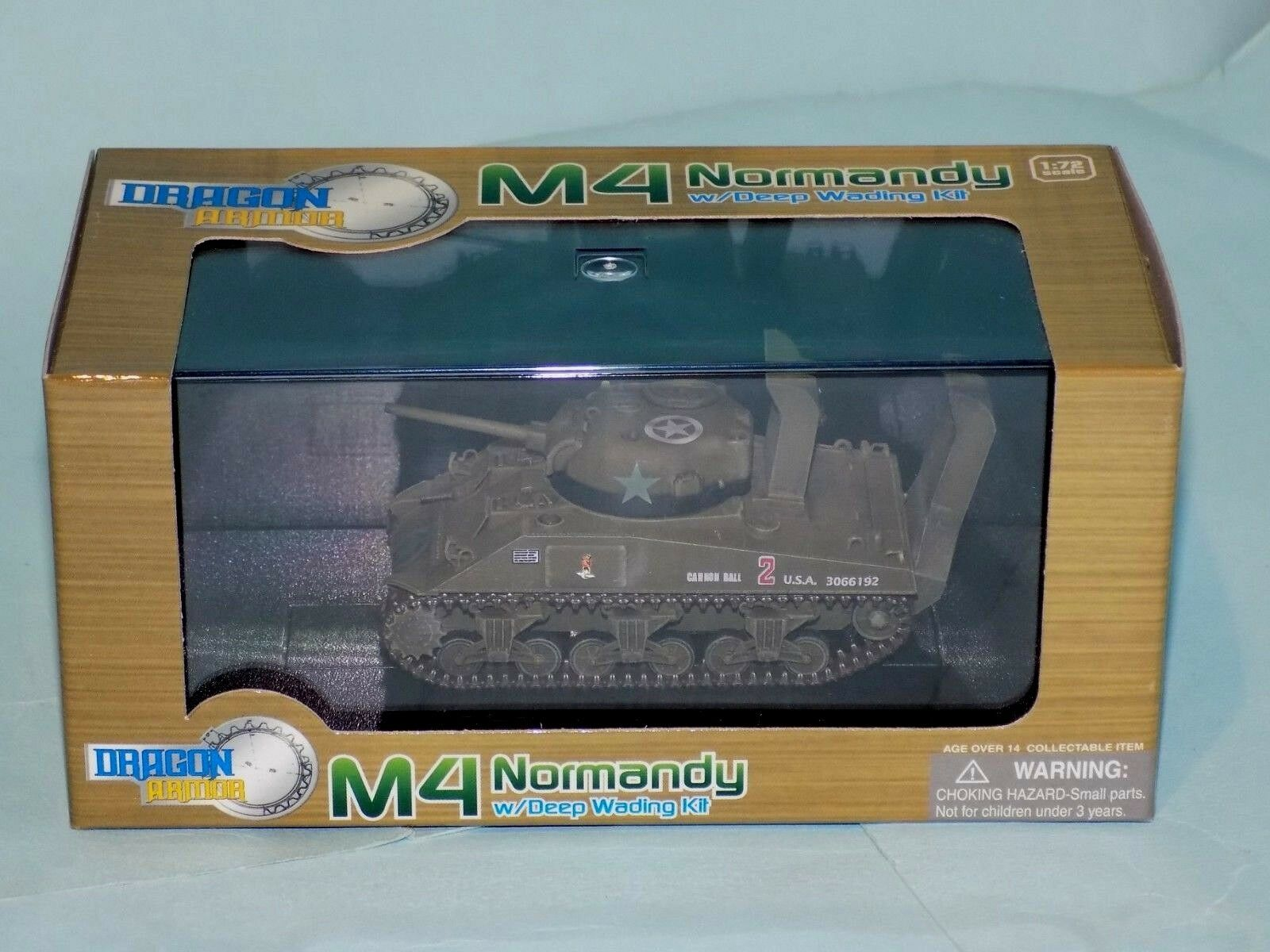 M4 SHERMAN US ARMY 70th Tank Btn Normandie France D-DAY Dragon Armor 60369 1 72