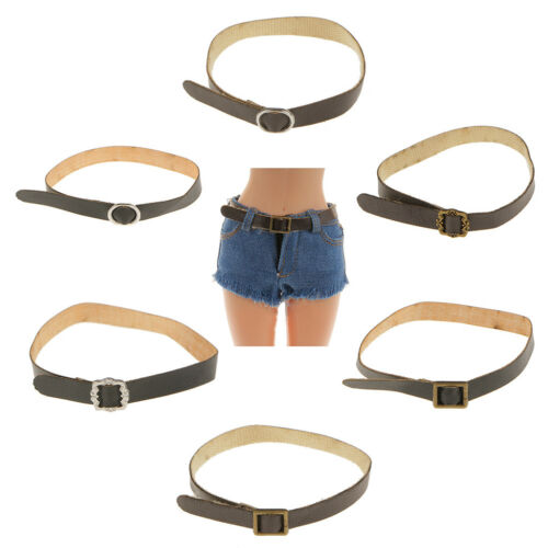"""1//6 Scale Female Brown PU Waist Belt FOR Phicen Hot Toys DID CY 12/"""" Figures"""