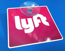 1 Removable Lyft Sign Detachable  Laminated High Quality Perfect Exposure Uber