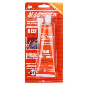 Details about Red Master #7 RTV High Temp Silicone Gasket Maker 3 OZ