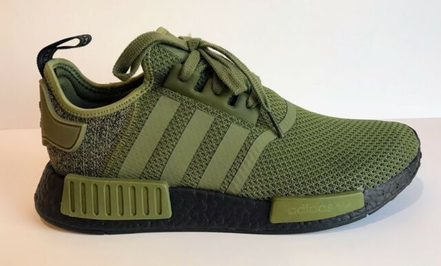adidas Originals NMD R1 AQ1246 Olive Green Black US Europe Exclusive  Colorway a16f73c53