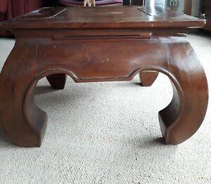 Table Basse Bois Fonce Maisons Du Monde Plateau 50x50cm H 36 5cm