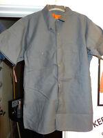 Ewc Blue/gray Short Sleeve Work Shirt M