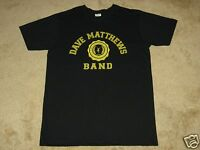 Dave Matthews Band Collegiate Logo M, L, Xl Black T-shirt