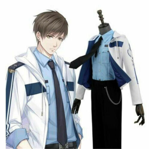 Love and producer Bai Qi Cos Suits White Jacket Black Pants Cosplay Costume NEW