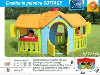 casetta gioco giardino casa per 7 bambini angolo cottura e bricolage alta 126 cm