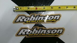 2-NOS-Robinson-Old-School-BMX-Bike-Freestyle-Bicycle-Decal-STICKERS