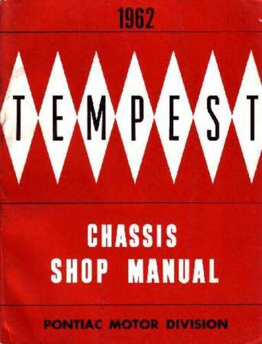 OEM Repair Maintenance Shop Manual Bound for Pontiac Tempest Chassis 1962
