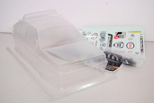 THE RALLY LEGENDS Carrozzeria Trasparente Lancia Delta EVO + Adesivi ESSO GRIFON