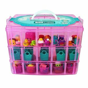 Stackable Storage Container Case Compatible With Kins Toys 3tiers Pink Large