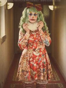 Gloomth Clown Long Sleeve Skater Dress S to 3XL plus goth carnival circus NEW!