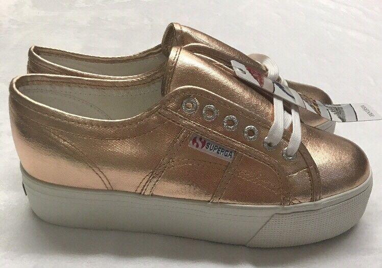 Superga Größe Pink Metalic Platform Sneaker Größe Superga 8.5 NWOB 6d29c7