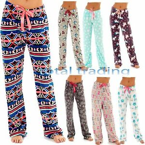 9e5353ae689 Image is loading Ladies-Womens-Loungewear-Lounge-Pants-Pyjama-Bottoms-Pjs-