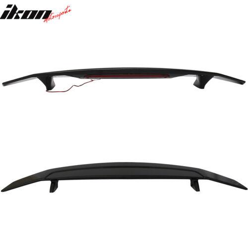 Fits 13-16 Dodge Dart Sedan 4Dr Trunk Spoiler Wing /& LED Light Glossy Black ABS