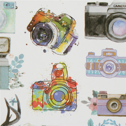 camera adhesive paper sticker diy gift card photo scrapbook diary decor OS