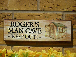 PERSONALISED-GARDEN-SHED-SIGN-MAN-CAVE-SIGN-OWN-NAME-SIGN-SHABBY-CHIC-SIGN-DIY