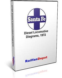 santa fe diesel engine diagrams pdf on cd railfandepot image is loading santa fe diesel engine diagrams pdf on cd