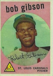 1959 BOB GIBSON TOPPS # 514 RP ROOKIE CARD HOF-WORLD SERIES CHAMP-CY YOUNG MVP
