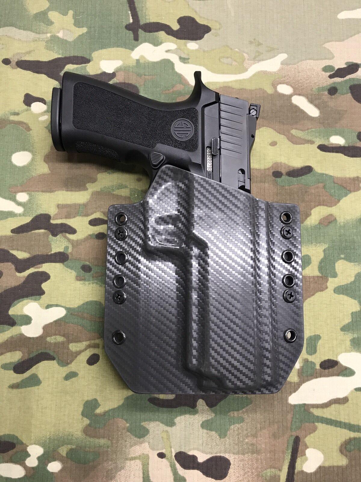 Armor grau Carbon Fiber Kydex SIG P320 Full Größe Holster