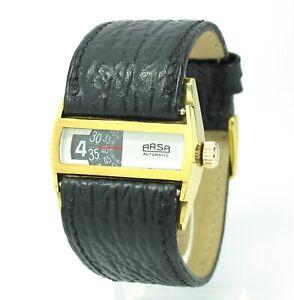 Vintage-Arsa-Directime-Scheibenuhr-Automatic-33-5mm-Automatik-NOS-Ref-9004