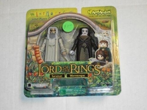 Art Asylum SARUMAN /& WORMTONGUE Lord of The Rings Minimates Set