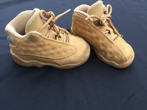best sneakers ee632 f5b47 Details about Toddler Air Jordan Retro 13 Basketball Elemental Gold/baroque  Brown 414581705
