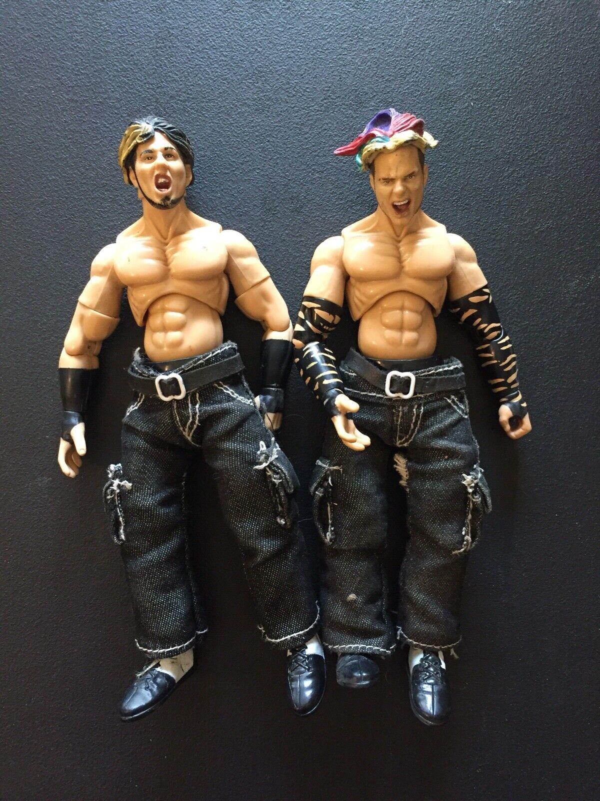 Rare Jakks Pacific WWF Wrestling Hardy Boyz Finishing Moves Series Set Of 2