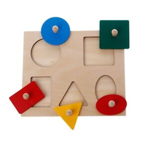 Geometry-Montessori-Board-Shapes-Sorting-Puzzle-Education-Preschool-Kids-Toys