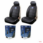 New 2pc Set Ford Mustang Synthetic Leather Sideless Car Truck Front Seat Covers