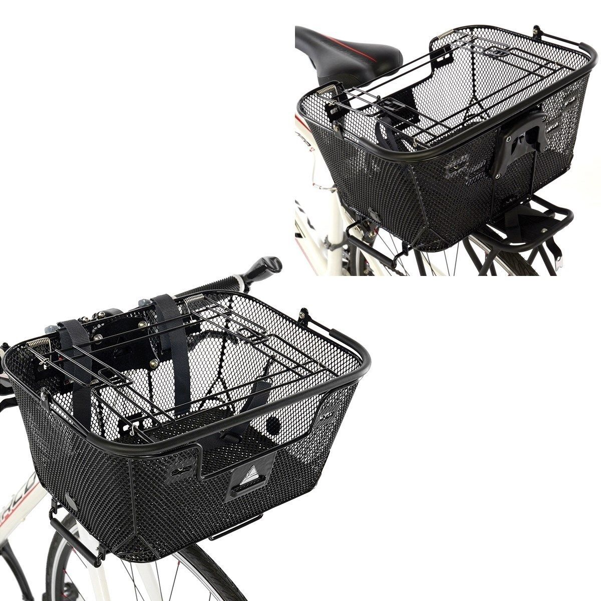 Axiom QR double fonction Premium Pet panier - 16  X 11.8  X 7.1  - Noir-Arrière-Vélo-Neuf